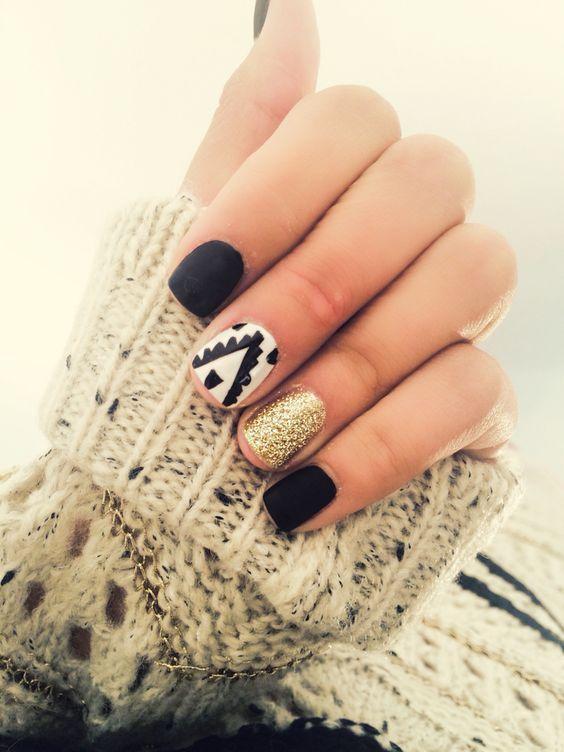 diseños para uñas cortas
