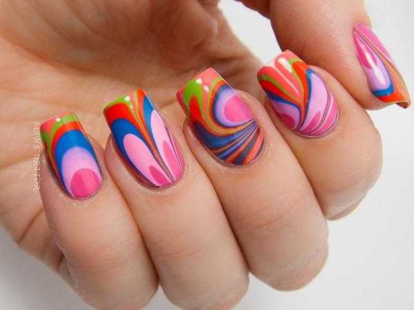 diseños de uñas cortas faciles